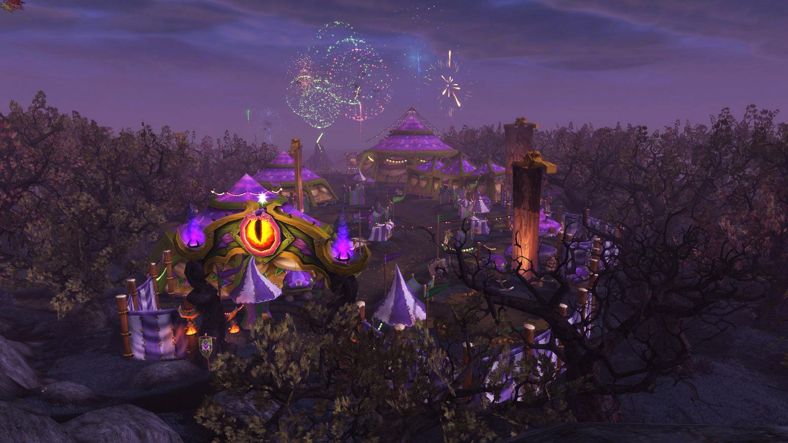 La Foire de sombrelune se déroule une fois par mois dans World of Warcraft