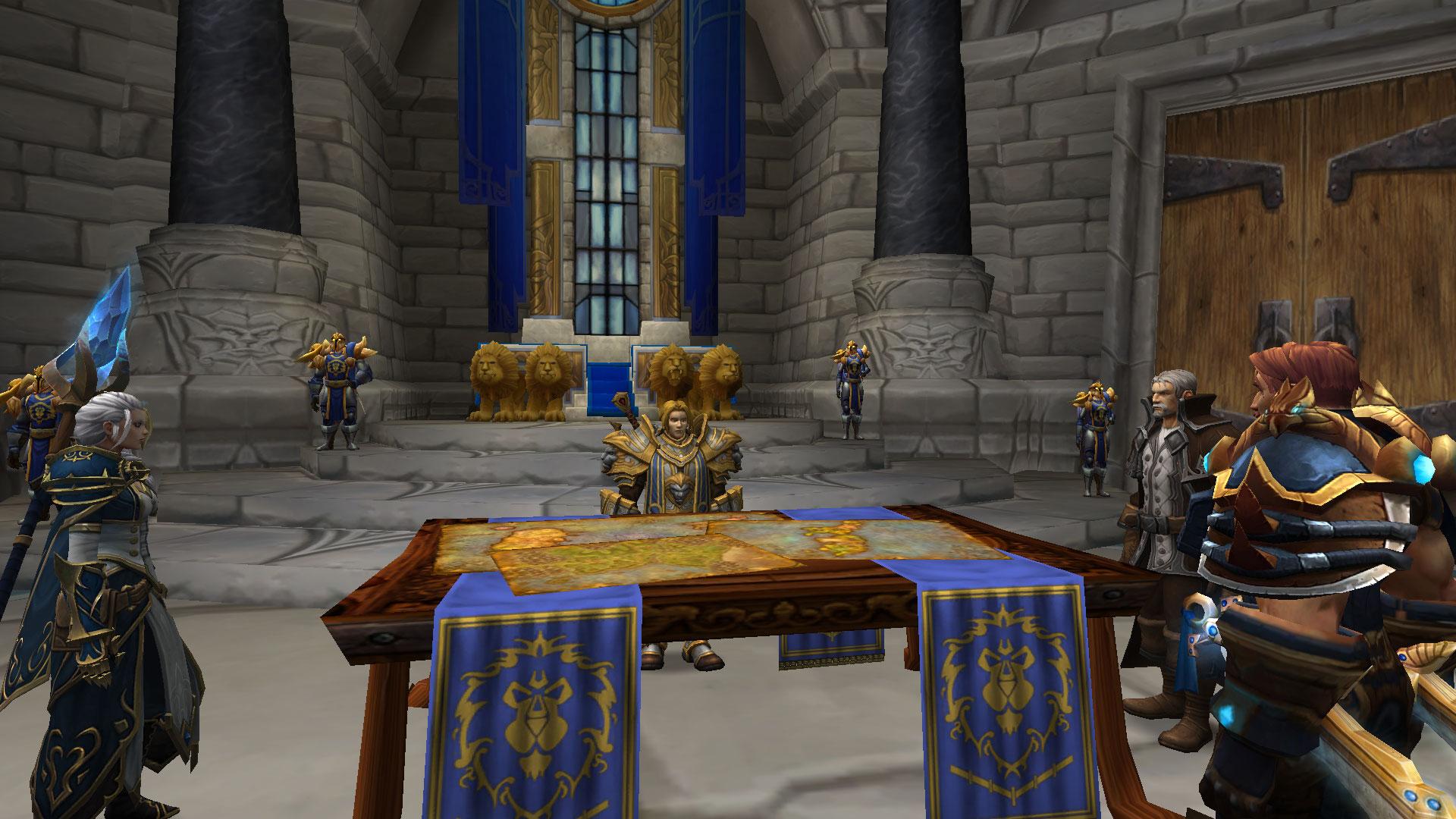 Le conseil de guerre de l'Alliance au Donjon de Hurlevent