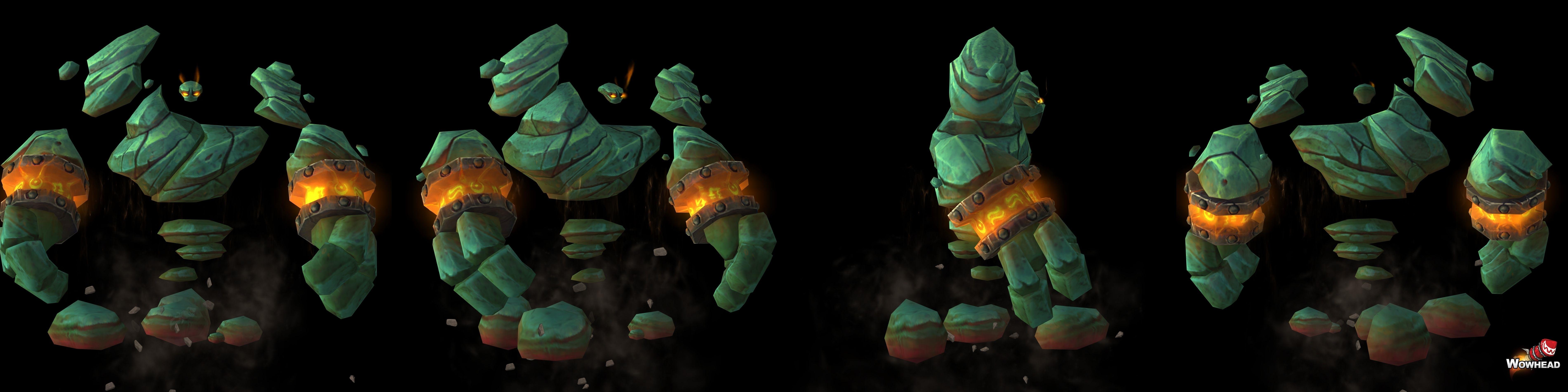 Nouveau modèle d'élémentaire de terre dans Battle for Azeroth