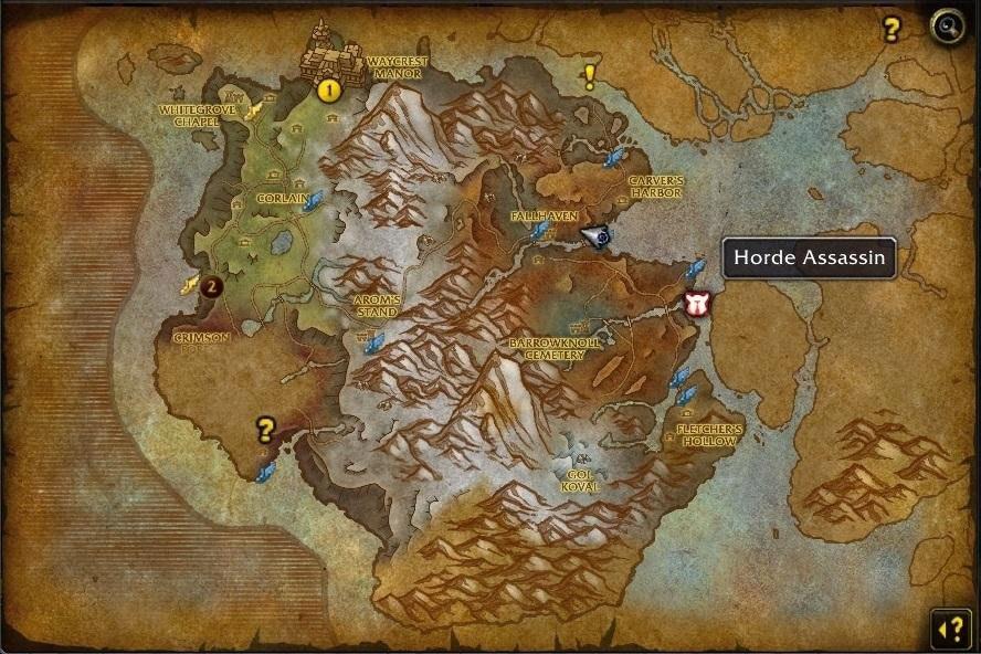 Les assassins des factions sont visibles sur la carte de la zone