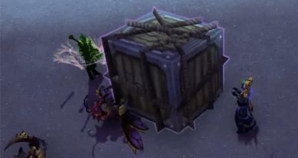 mode guerre : des caisses de butins lachees sur le champ de bataille