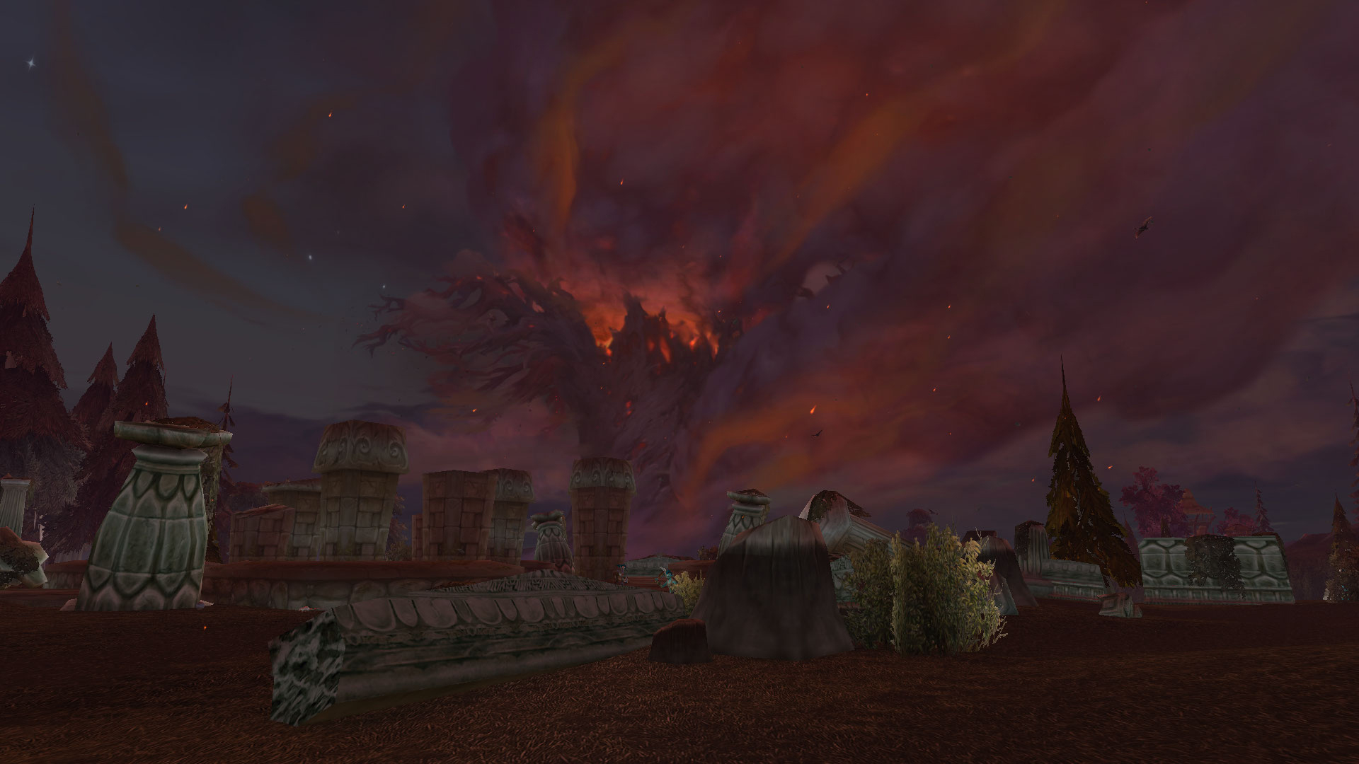 Teldrassil depuis les ruines de Mathystra