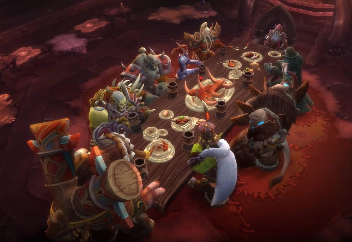 Lors d'un banquet de la Horde, Gallywix parle de l'azérite à Sylvanas