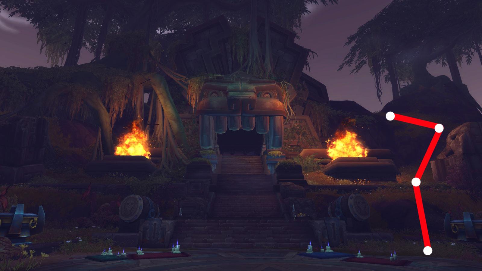 Les offrandes perdues de Kimbul se situent au sommet du temple