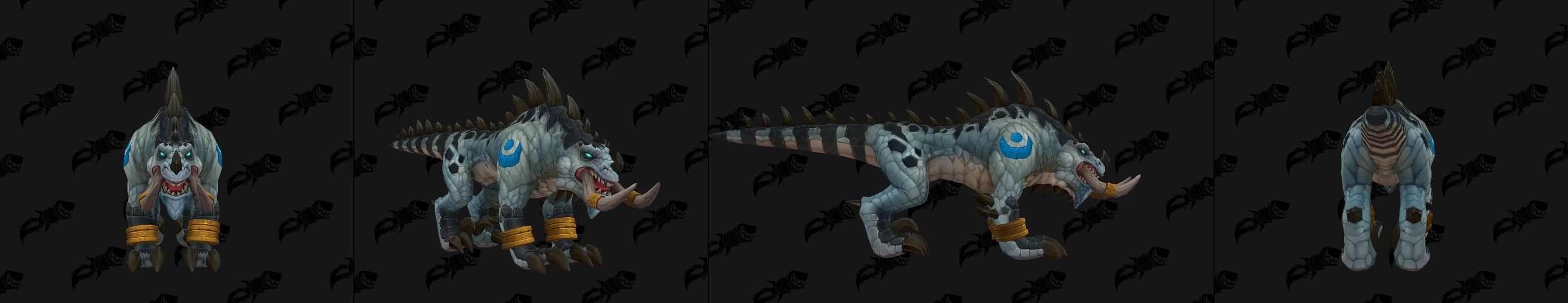 Forme de félin pour le Troll zandalari à Battle for Azeroth coloris blanc