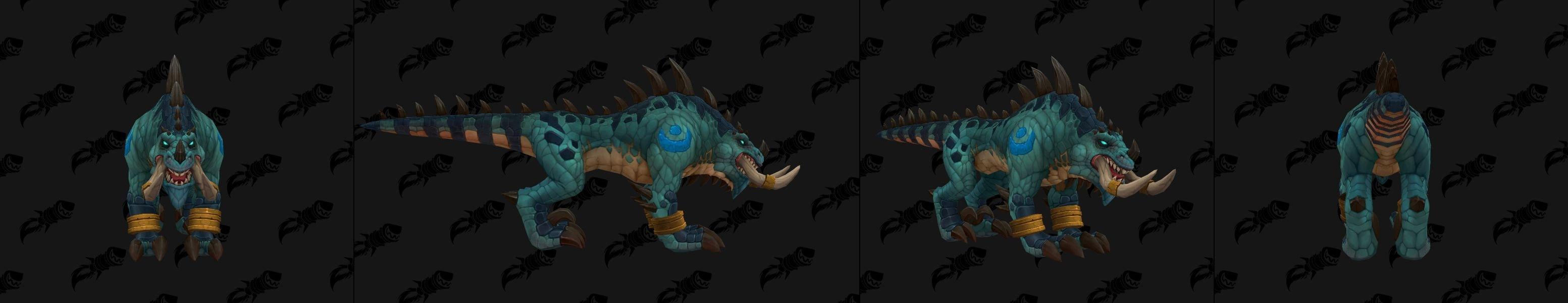 Forme de félin pour le Troll zandalari à Battle for Azeroth coloris bleu