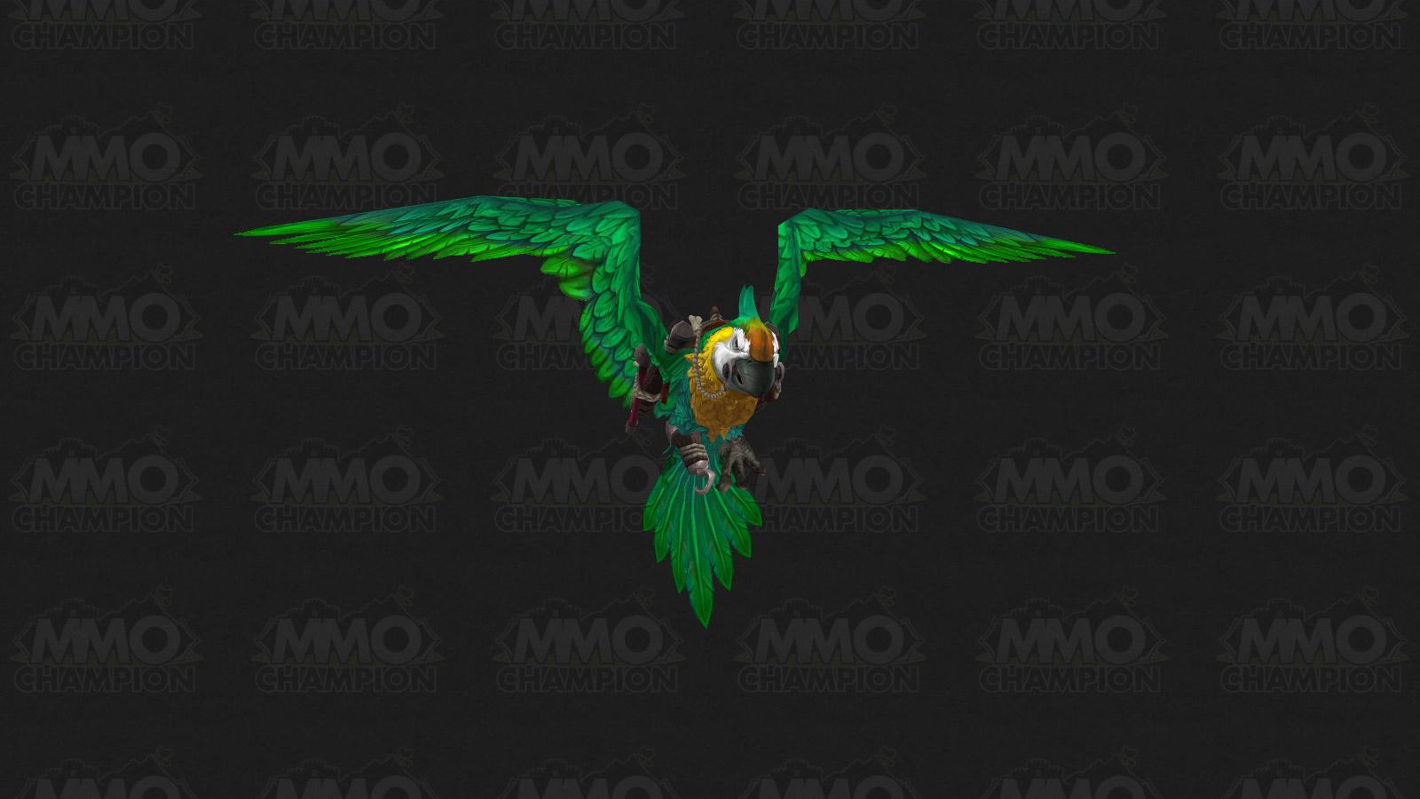 Nouvelle monture : perroquet vert dans Battle for Azeroth