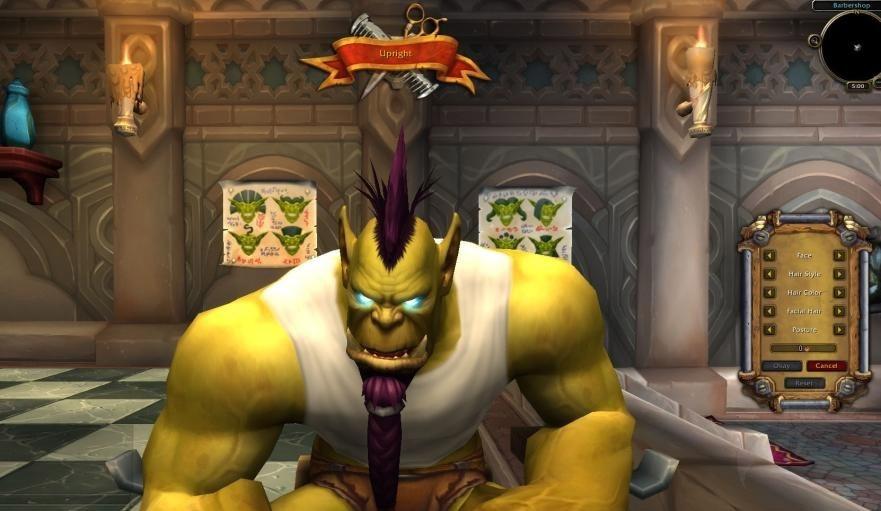 Rendez-vous au salon de coiffure pour redresser ou vouter votre personnage Orc