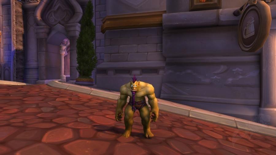 Posture voutée pour les Orcs sur l'alpha de Battle for Azeroth