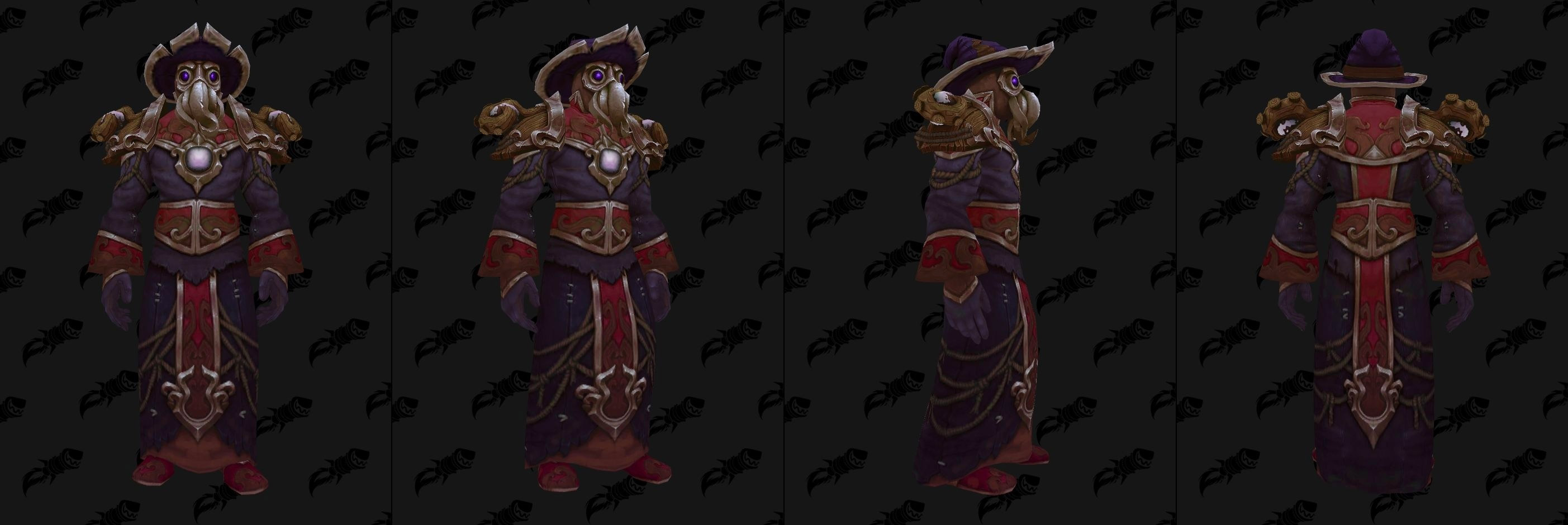 Set d'armures en tissus Kul Tiras (Donjon) - Coloris 1