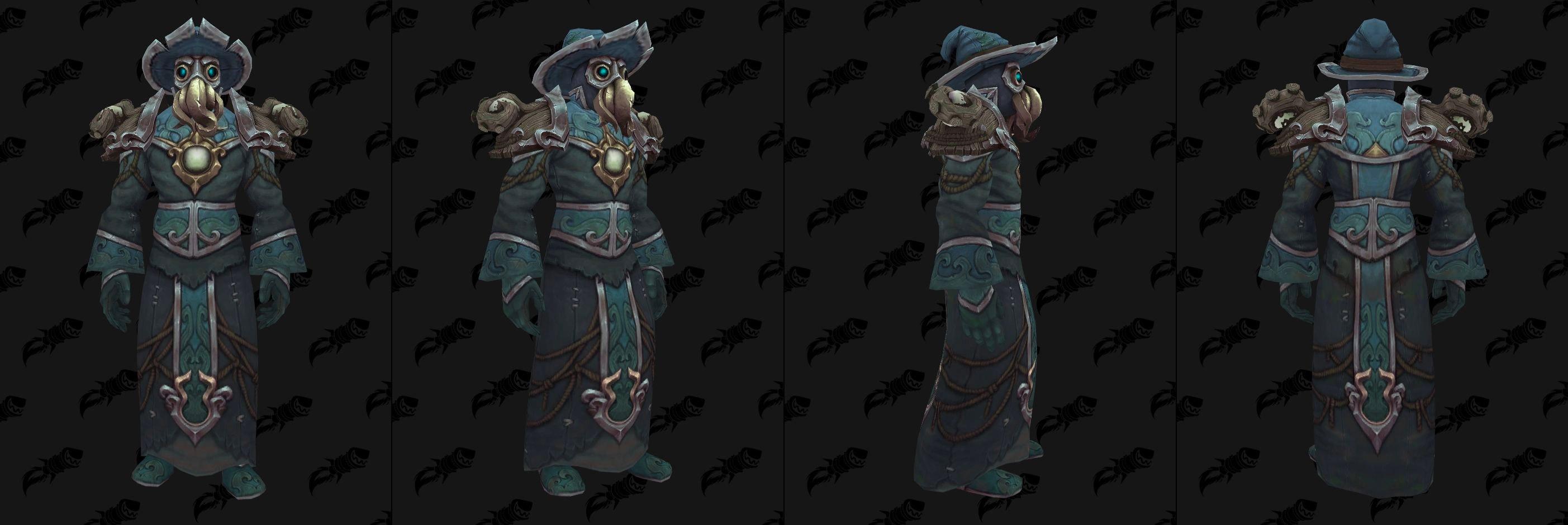Set d'armures en tissus Kul Tiras (Donjon) - Coloris 2