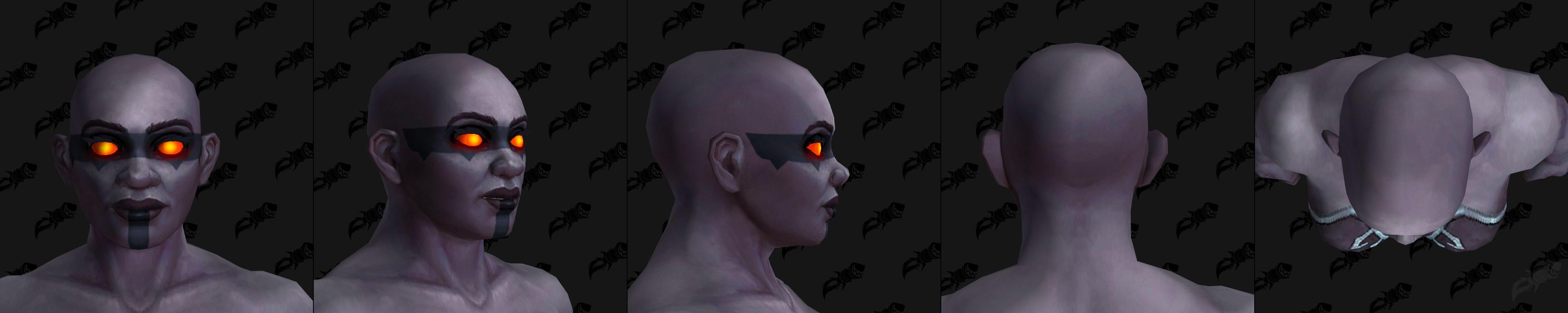 Nain Sombrefer (Femme) et options de tatouage de tête