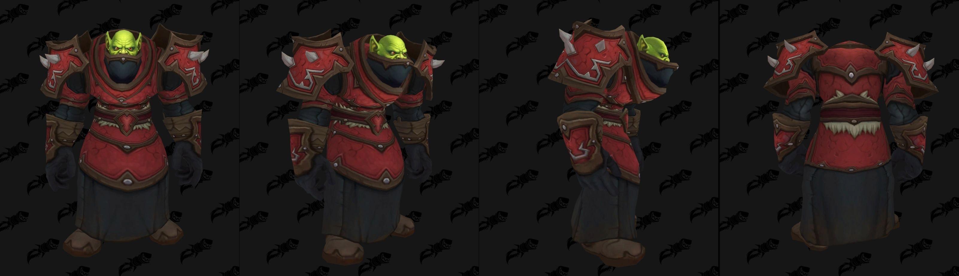 Armures cuir (Horde) - Fronts de guerre Tier 1 - Coloris 1