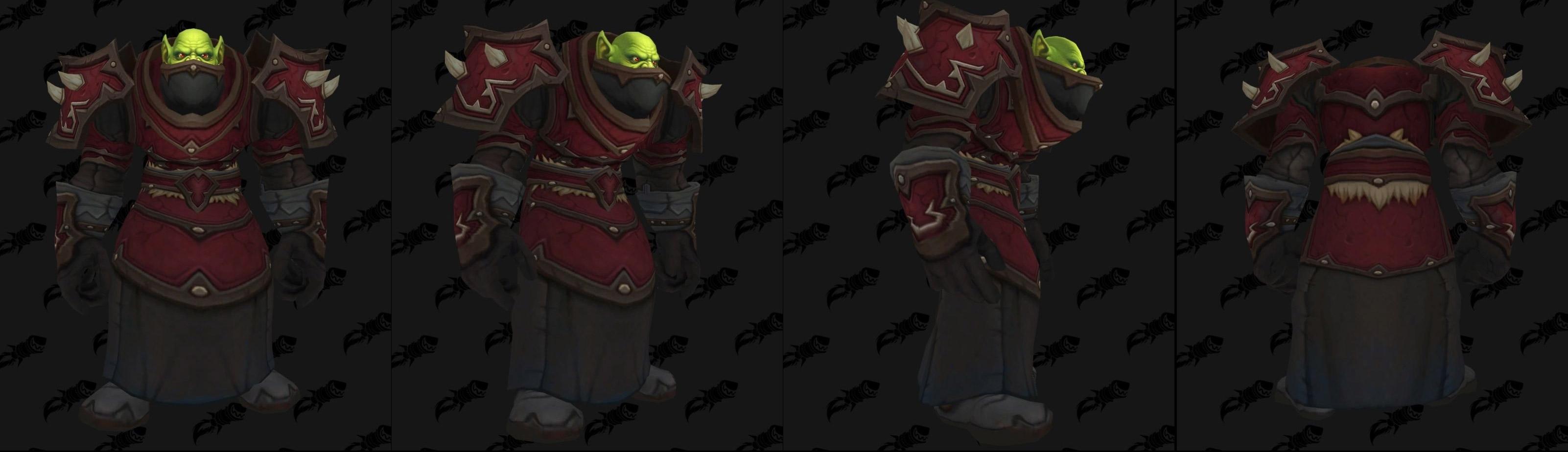 Armures cuir (Horde) - Fronts de guerre Tier 1 - Coloris 2