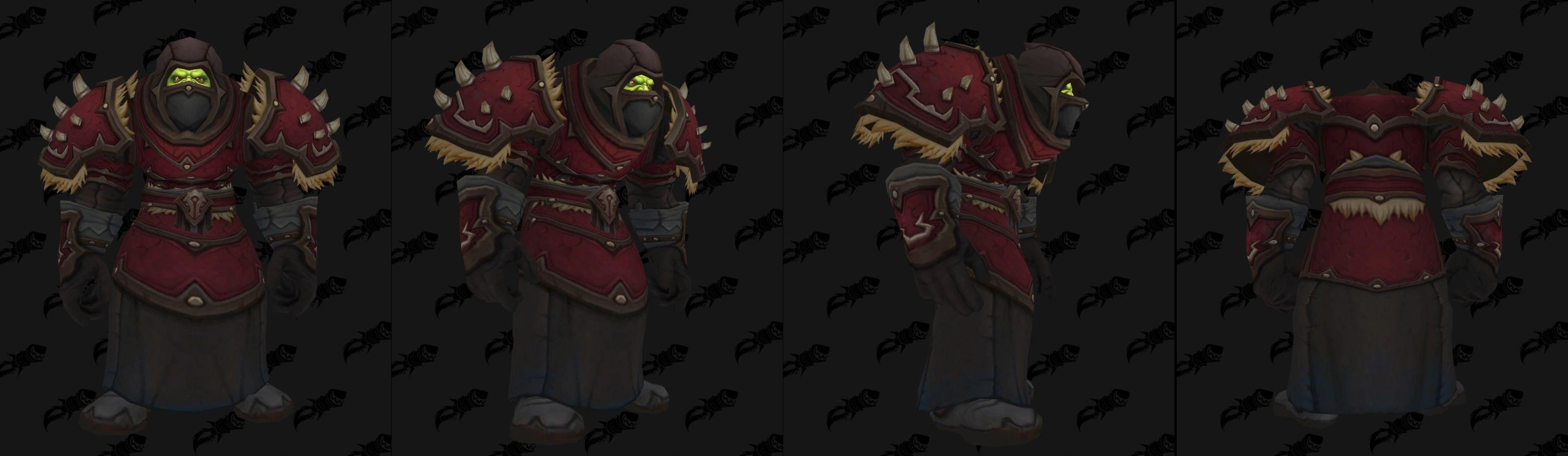 Armures cuir (Horde) - Fronts de guerre Tier 2 - Coloris 2