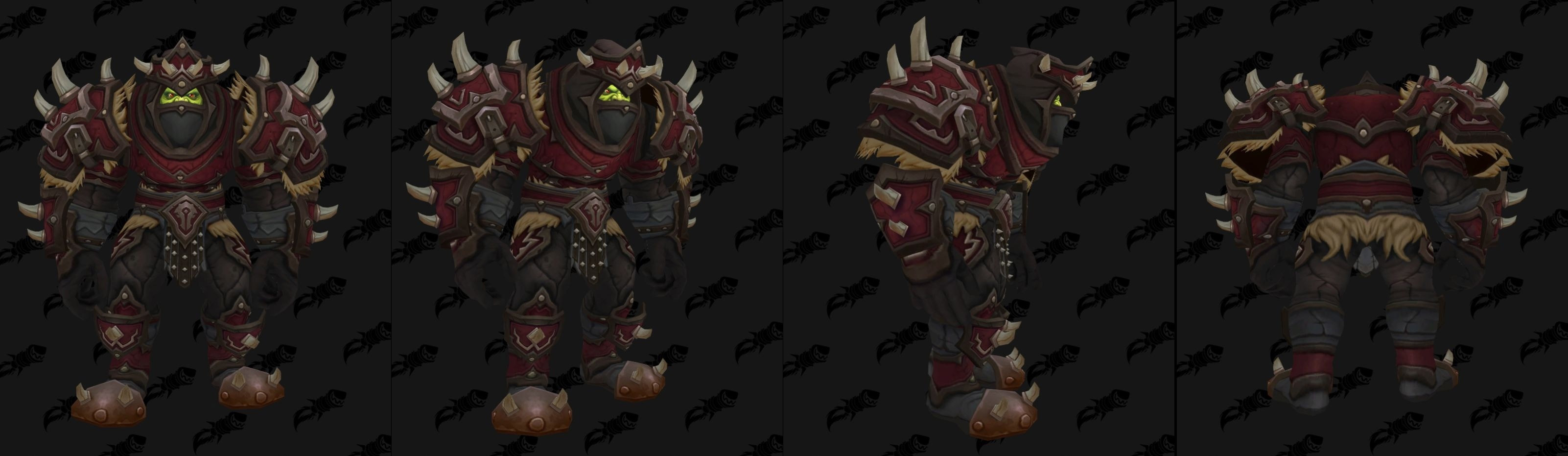 Armures cuir (Horde) - Fronts de guerre Tier 3 - Coloris 2