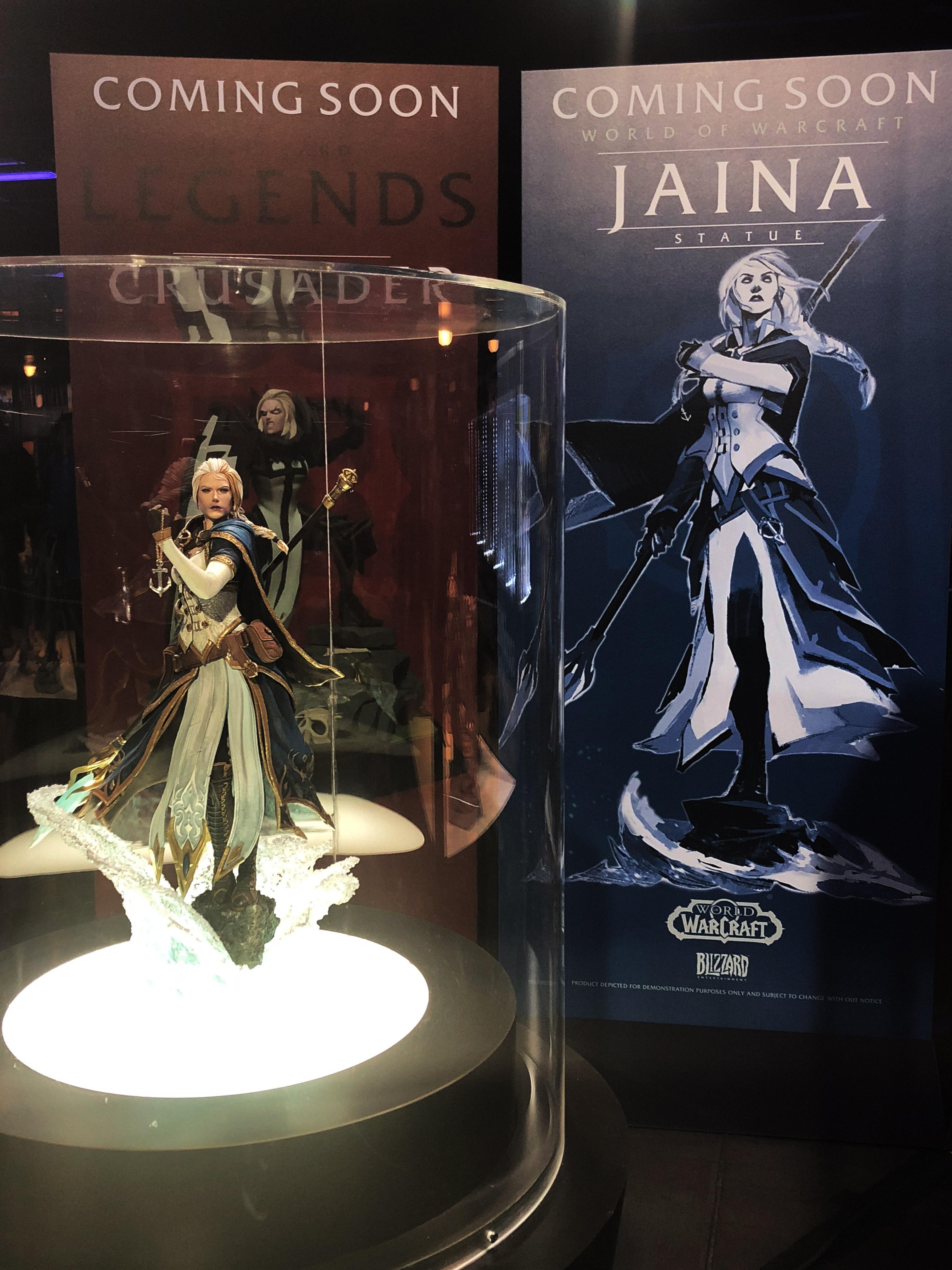 Statue Jaina Portvaillant sur un des stands de Blizzard