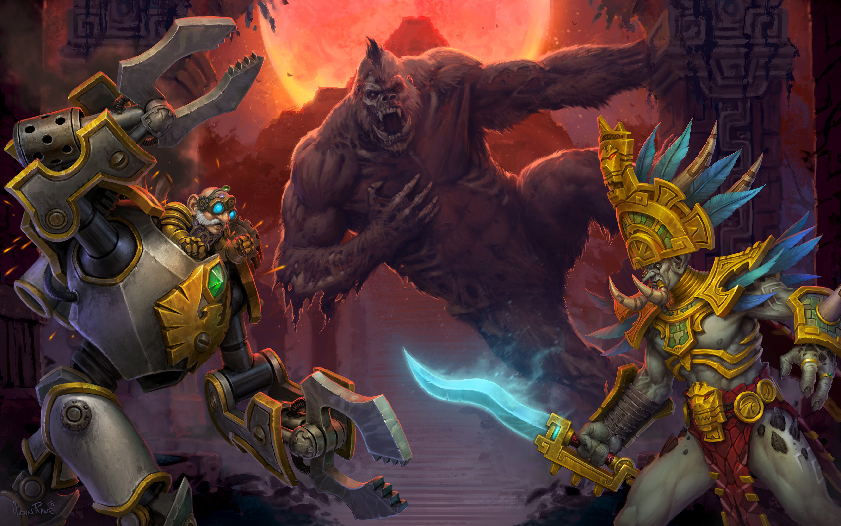 Key art du patch 8.1 de WoW