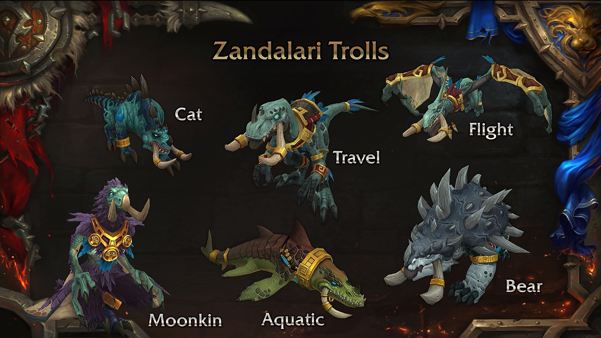 Troll Zandalari : Formes Druide
