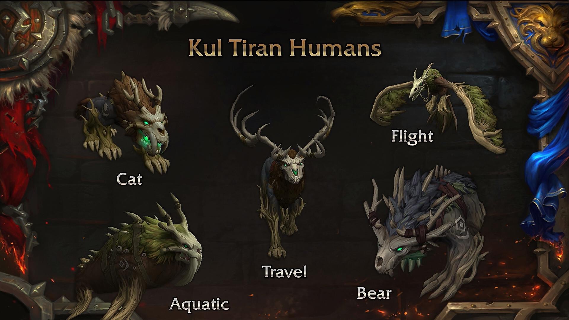 Humains de Kul Tiras : Formes Druide