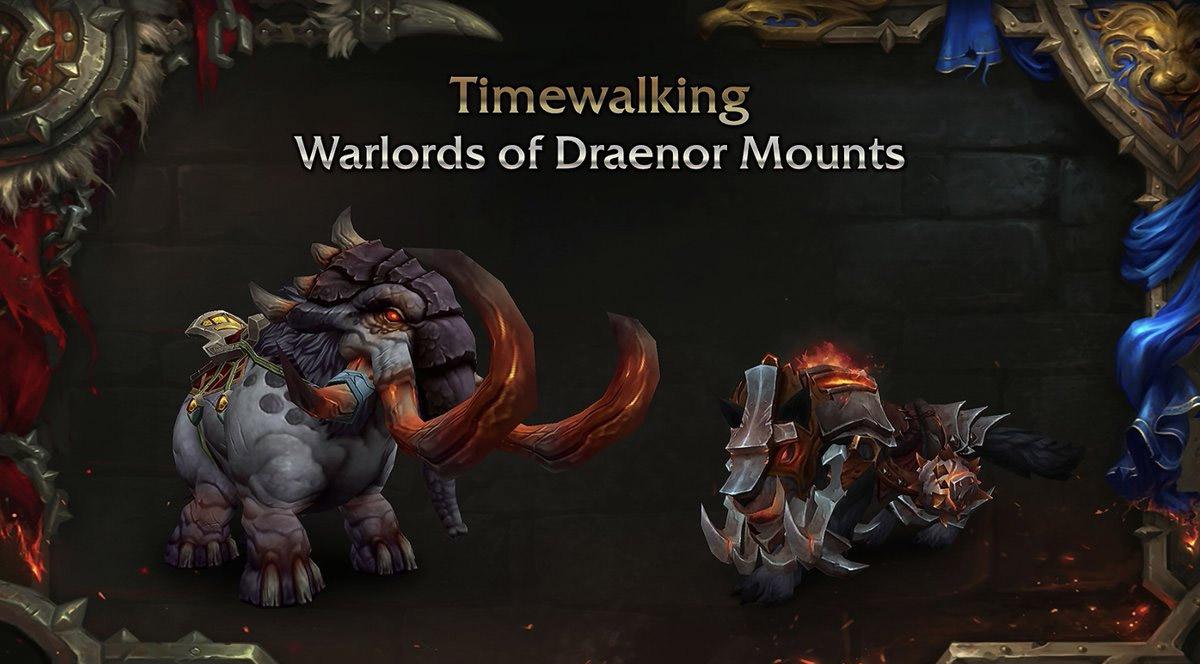 Nouvelles montures des Excursions temporelles Warlords of Draenor