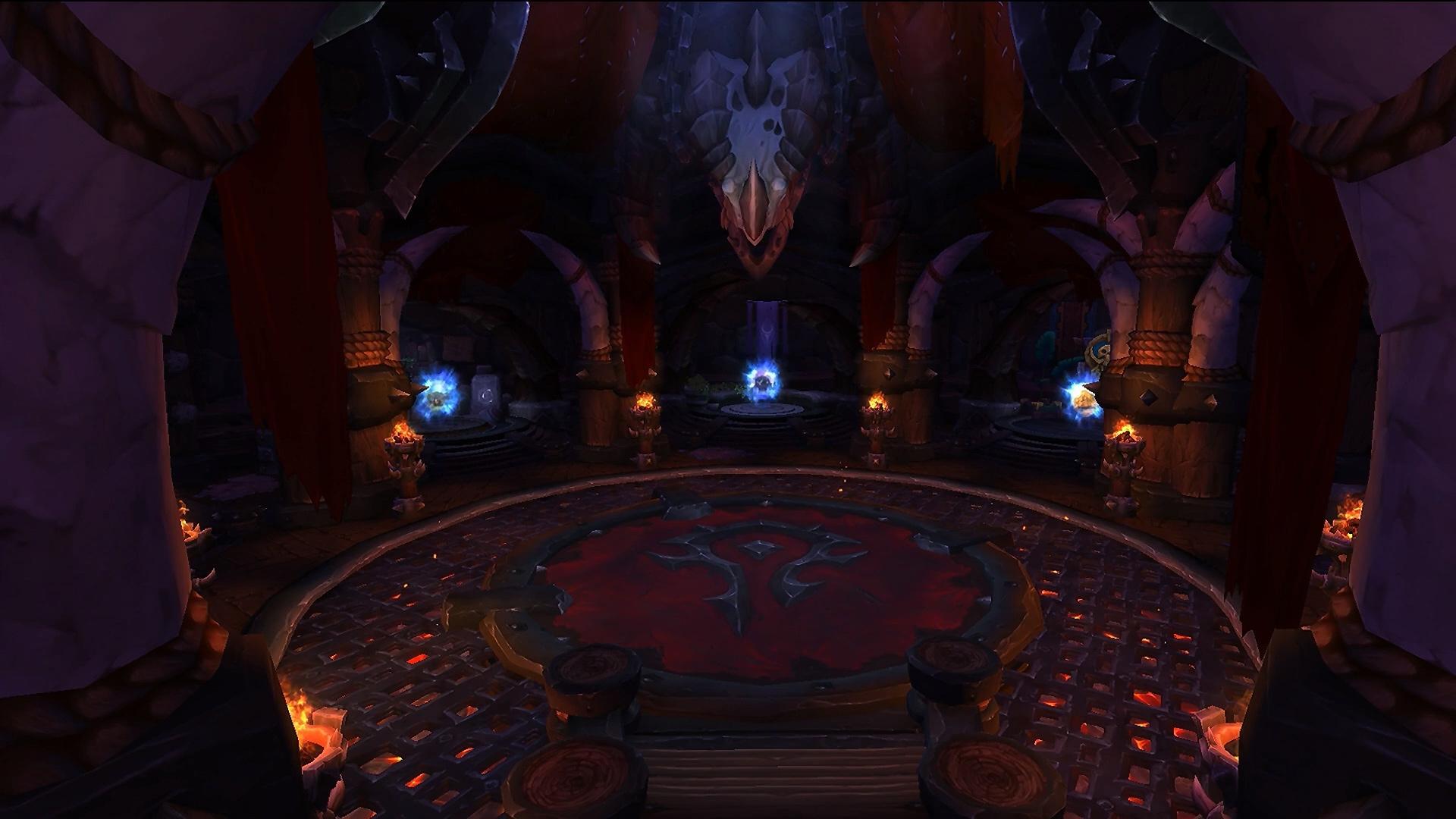 Salle des portails à Orgrimmar au patch 8.1.5