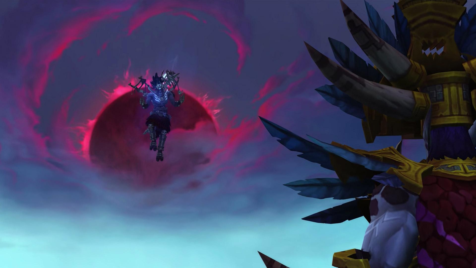 La lune de sang apparaît dans le ciel de Zuldazar