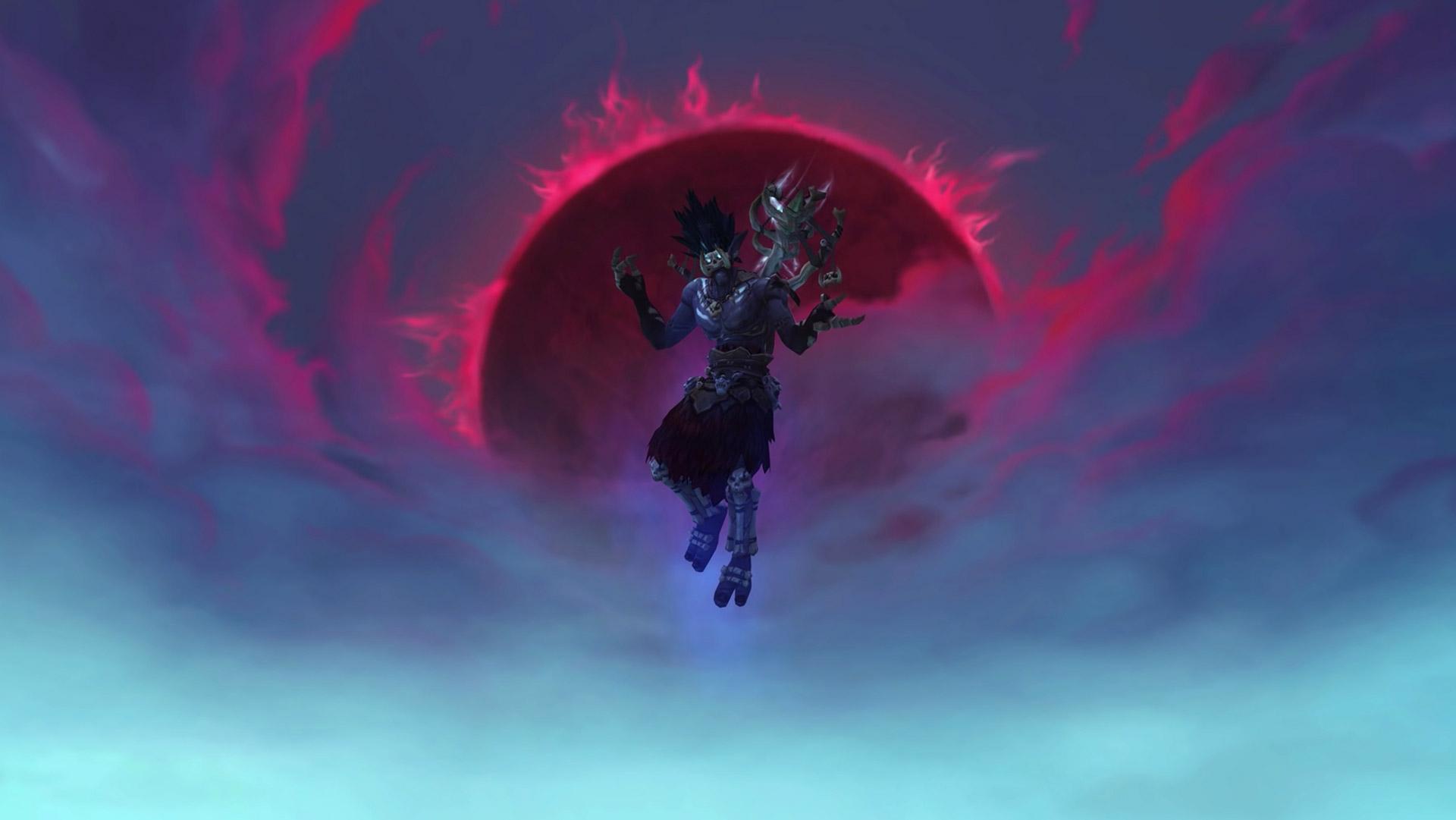 Lors de la saison 2 de mythique +, Bwonsamdi tente de vous submerger en réanimant les esprits vaincus