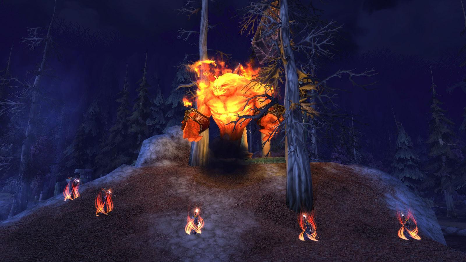 Élémentaire de feu, une créature rare à Sombrivage (patch 8.1)