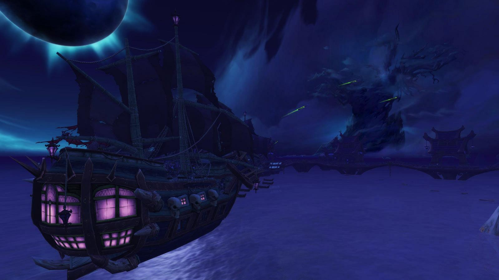 Les bateaux de la Horde au large