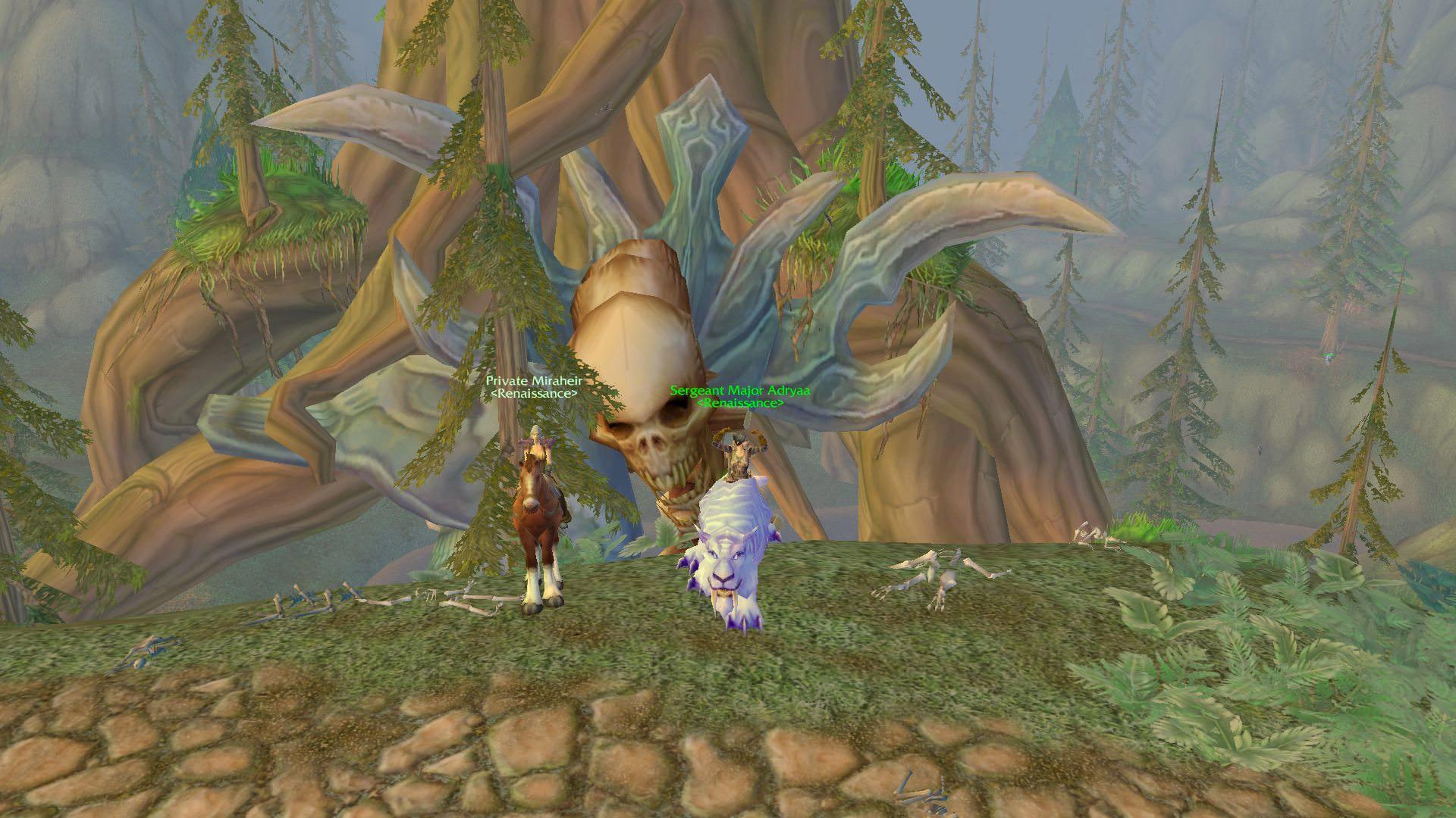 Il ne sera pas possible d'explorer Hyjal et de découvrir le squelette d'Archimonde