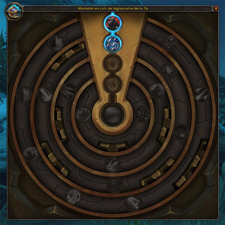 Les pièces d'azérite les plus puissantes disposent de 5 paliers de traits