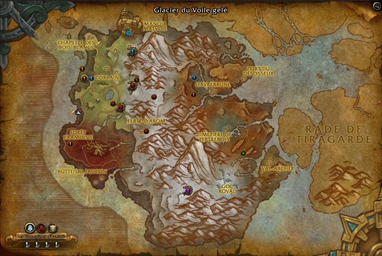 Les expéditions sont indiquées sur votre carte