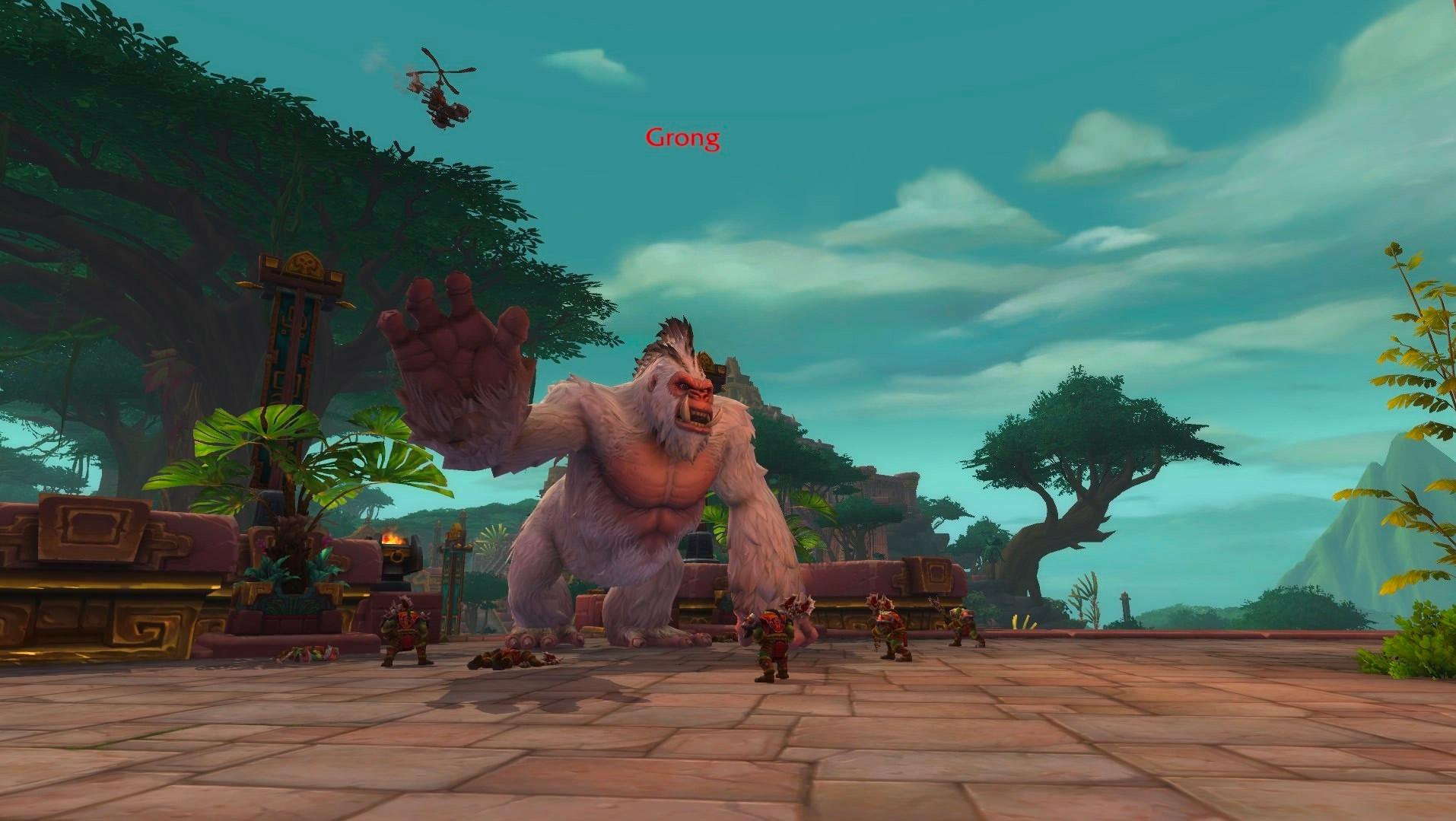 L'Alliance déploie Grong, un singe géant contre la Horde