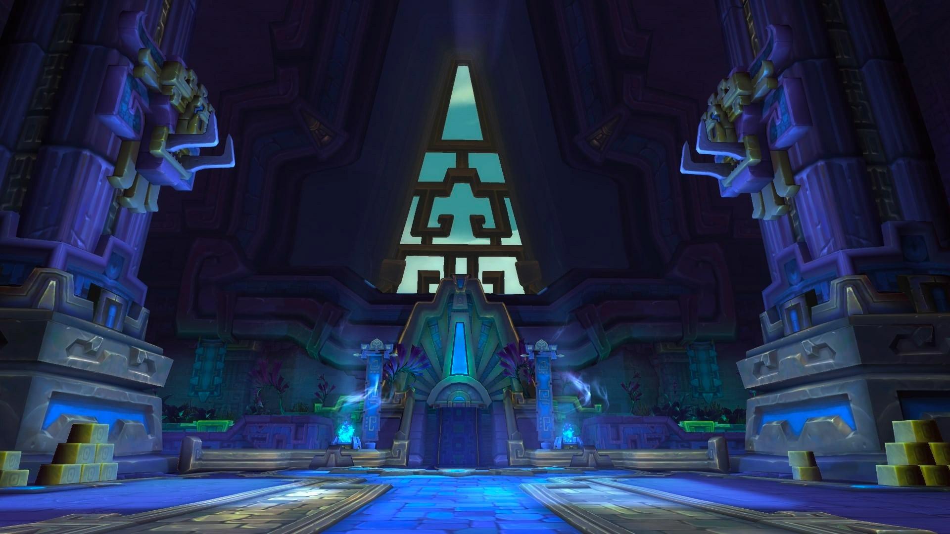 La salle du trône dans la pyramide