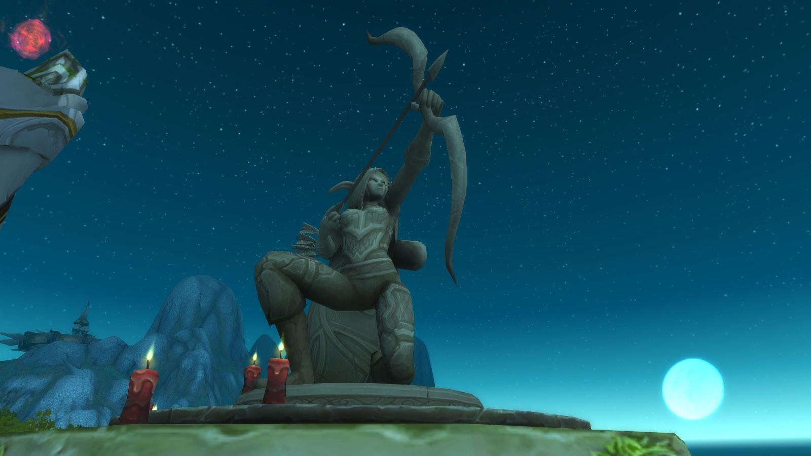 Statue érigée en l'honneur de Sylvanas