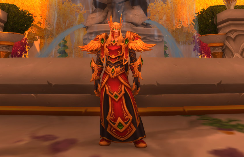Armure ancestrale des Sin'dorei version robe