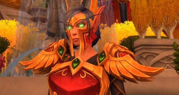 patch 8.1 : apercu de l'armure ancestrale des sin'dorei des elfes de sang