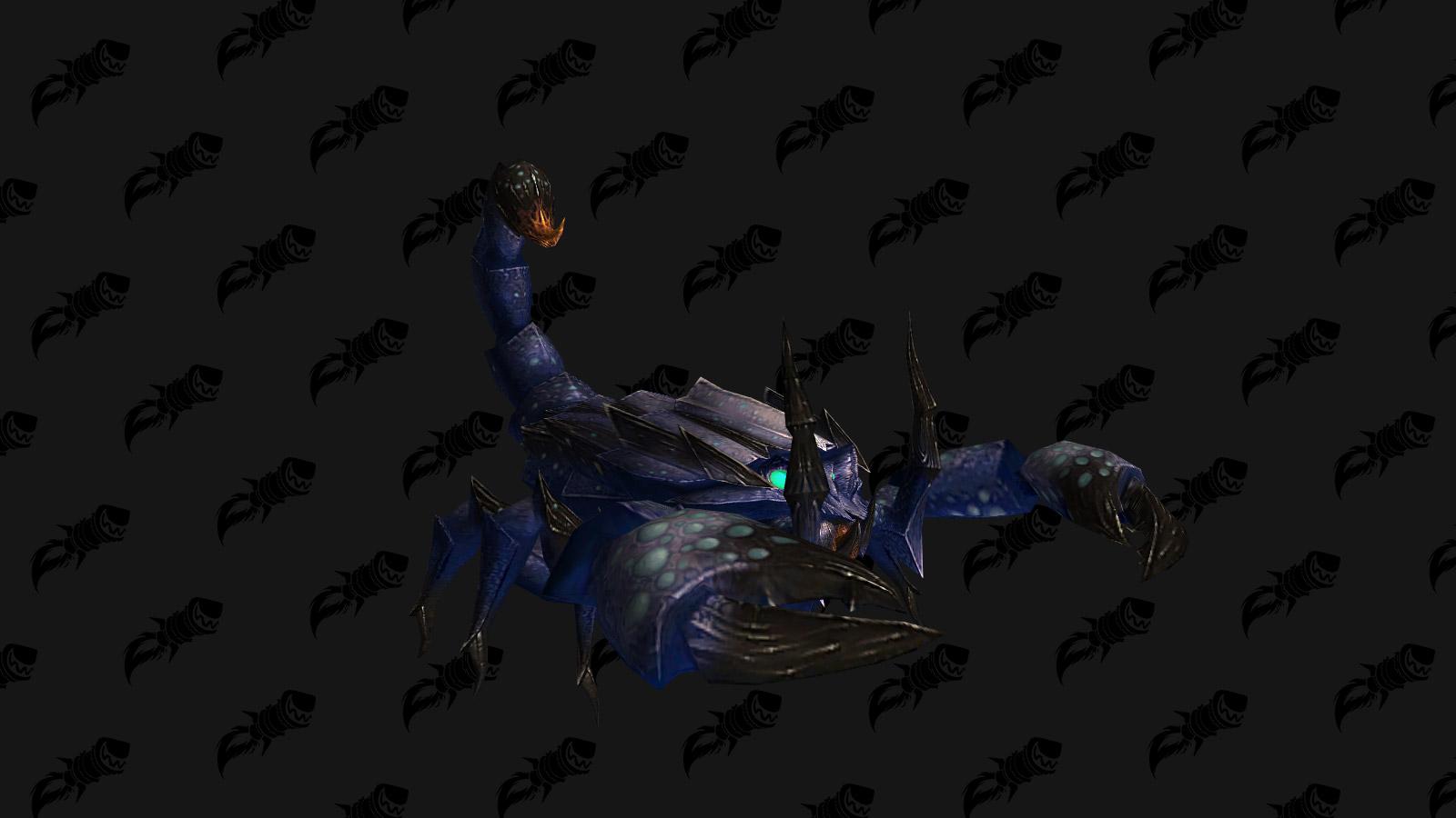 Monture Queue-venin sauvage bleu pour les joueurs de l'Alliance