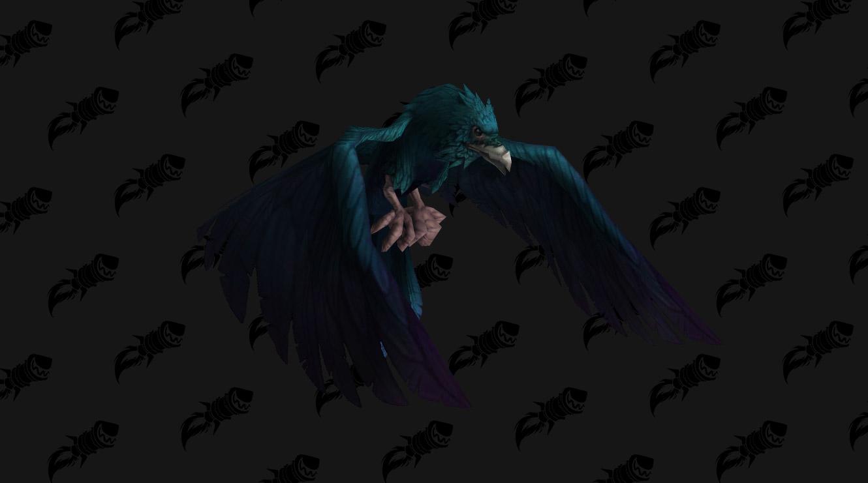 Mascotte Cobalt Raven Hatchling