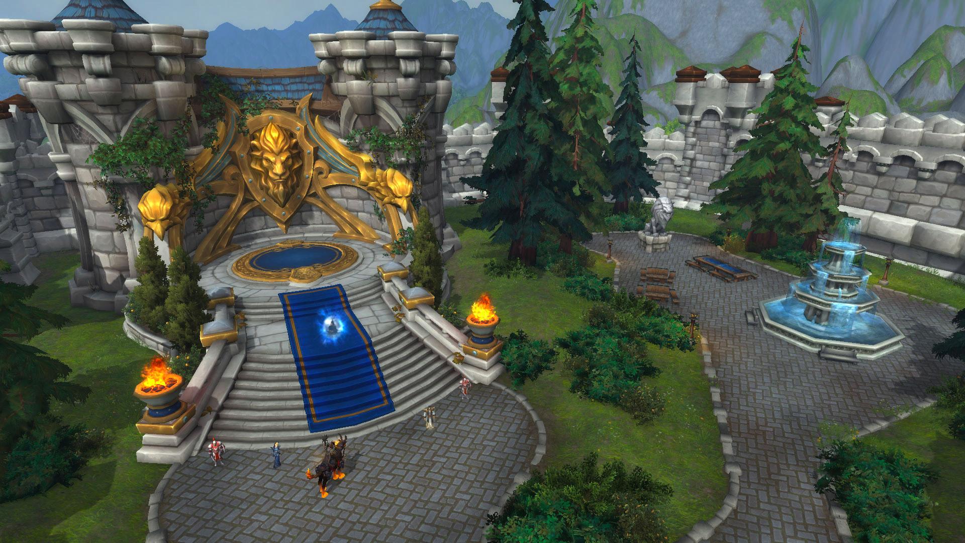 La base de l'Alliance est située à Stromgarde