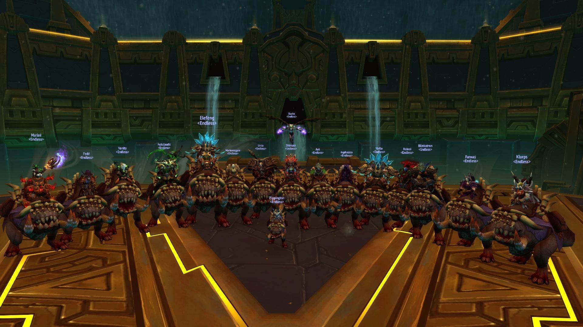 Endless est la première guilde EU à avoir terminé le haut-fait Gloire à l'écumeur de raid d'Uldir