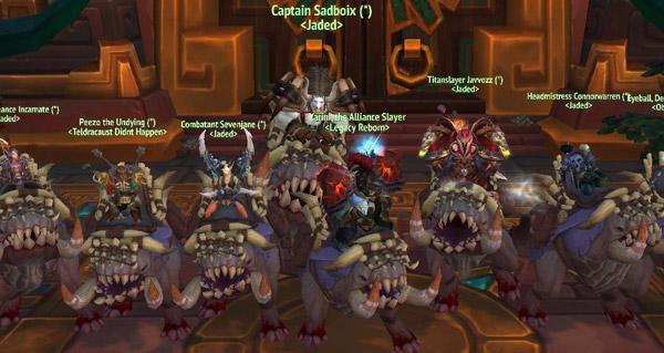 deux groupes terminent le haut-fait gloire a l'ecumeur de raid d'uldir