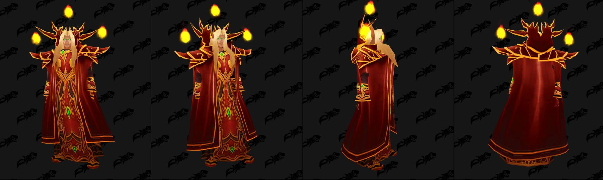 Modèle de Kael'thas Haut-Soleil avec des orbes de feu