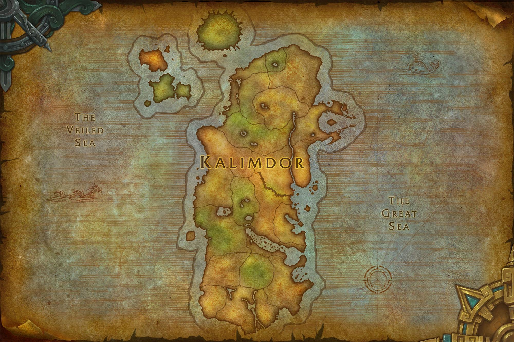 Nouvelle carte de Kalimdor