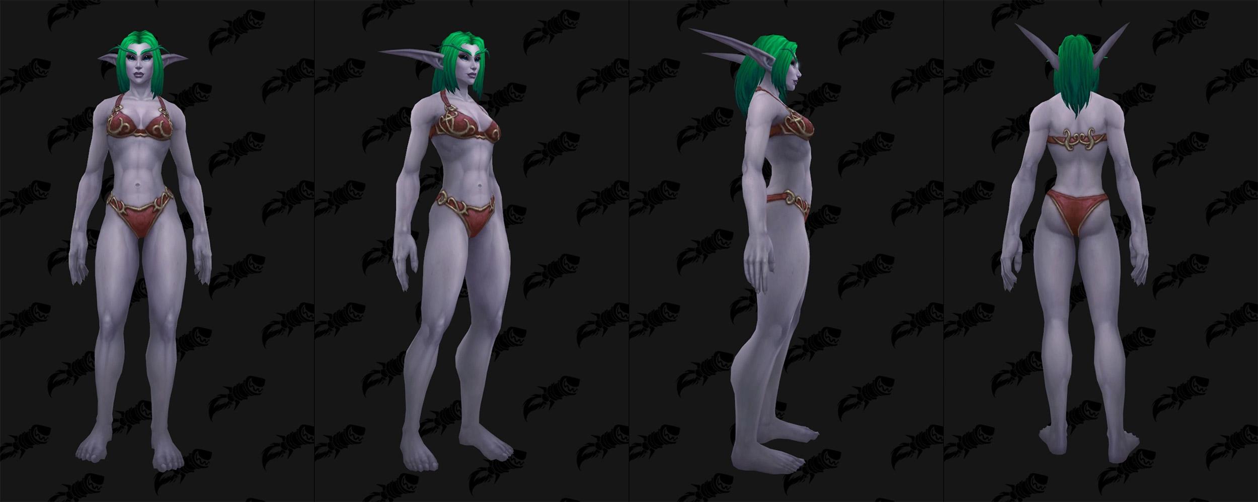Guerrier de la nuit : Option de personnalisation des Elfes de la nuit (Femme)
