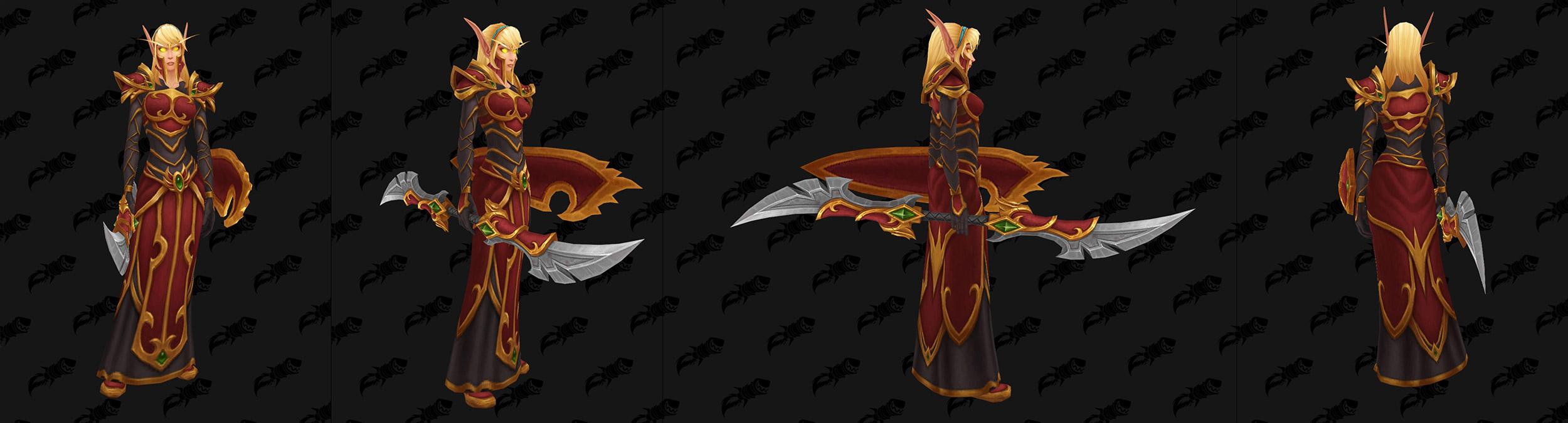 Garde Elfe de sang : Nouveau modèle d'armure (avec armes)