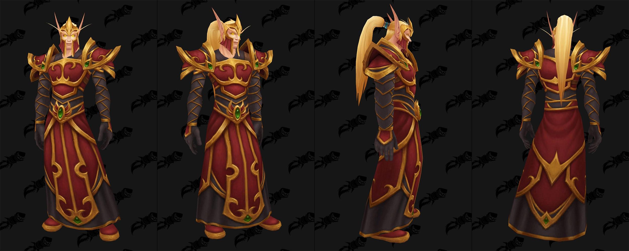 Garde Elfe de sang : Nouveau modèle d'armure