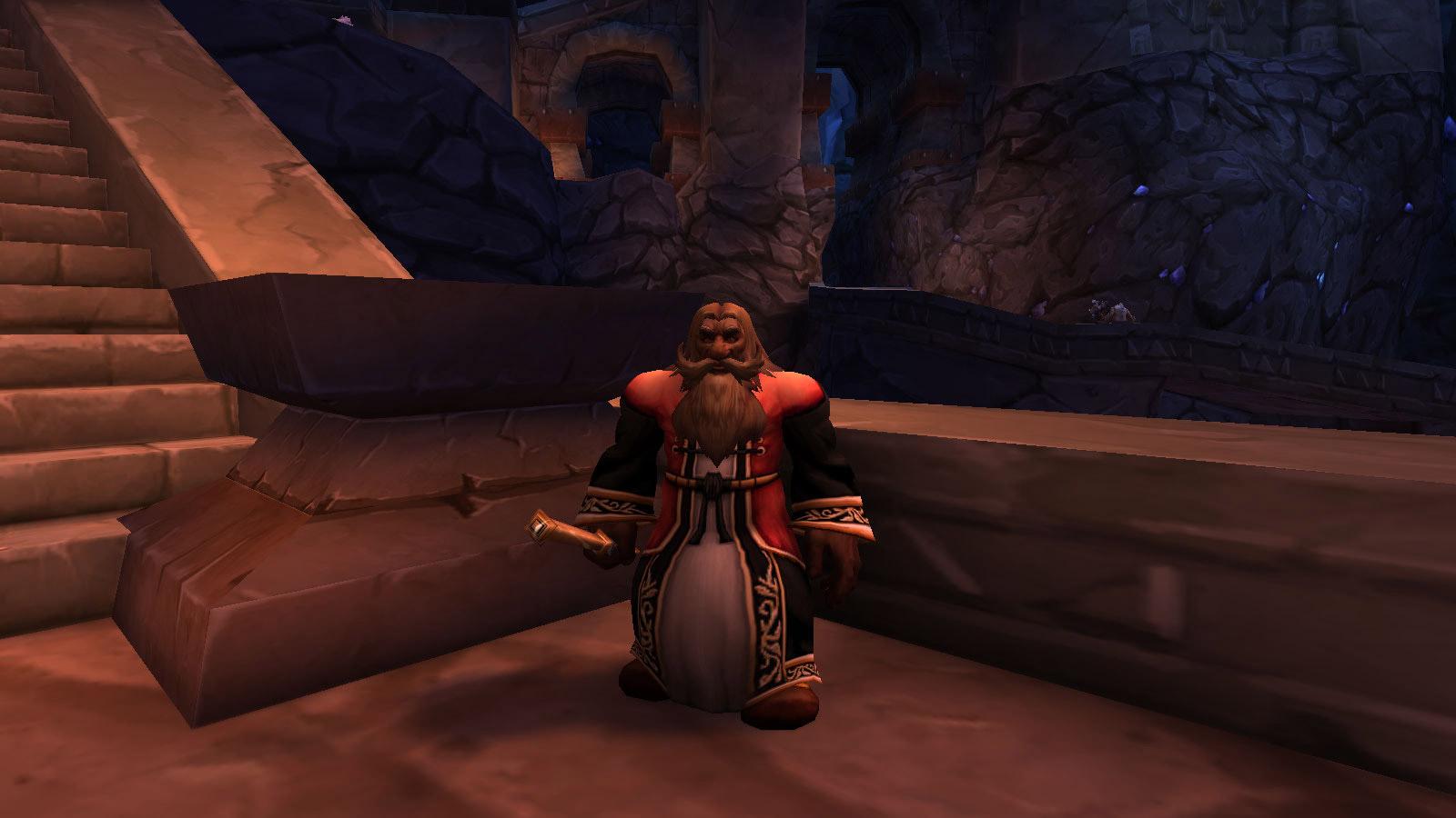 Le conseiller Belgrum dans le Vieux Forgefer