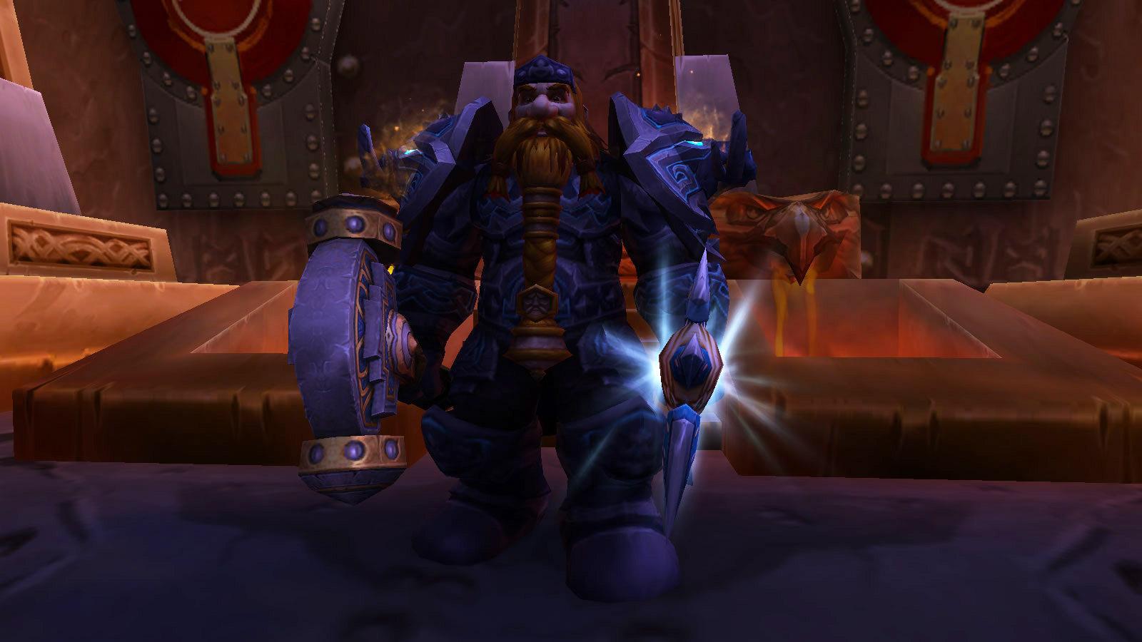 Muradin Barbe-de-Bronze vous remet l'armure héritage Nain et vous considère comme le champion de votre peuple